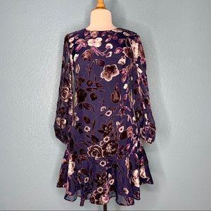 Eliza J | Floral Velvet Burnout Dress NWT
